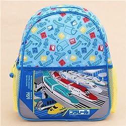 Mochila cartera escolar azul tren niños infantil