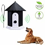 CHANG Dog Stop Barking, Ultrasonic Barking Stop Bark Device, Herramienta De Control De Repelente De Perros A Prueba De Agua Al Aire Libre, 6.1 * 6.5 Pulgadas,Black
