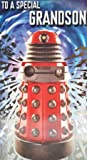 Carte d'Anniversaire Doctor Who spécial petit fils avec un Dalek