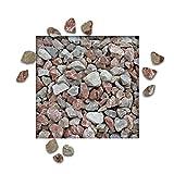 Bellissa Kräuterspirale Kräuterschnecke für Balkon & Terrasse mit Steinen Marmorsplitt Arabescato 16/22 mm