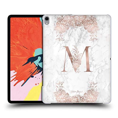 Head Case Designs Offizielle Nature Magick Letter M Rosa Gold Marmor Monogramm Harte Rueckseiten Huelle kompatibel mit iPad Pro 12.9 (2018)