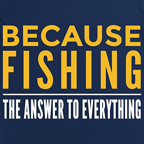 Because Fishing T-Shirt, Damen Dunkelblau