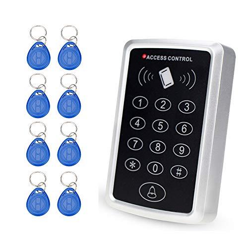 OBO HANDS RFID 125 KHz Puerta Acceso Control Sistema 1000 Usuarios Teclado RFID con 10 Piezas RFID Llaveros...