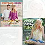 kris carr 2 books collection set - crazy sexy juice, crazy sexy kitchen - 100+ simple juice, smoothie & elixir recipes to supercharge your health