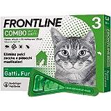 Frontline Combo, 3 Pipette, Antiparassitario per Gatti, Gattini e Furetti di Lunga Durata, Protegge da Pulci, Zecche, Uova, L