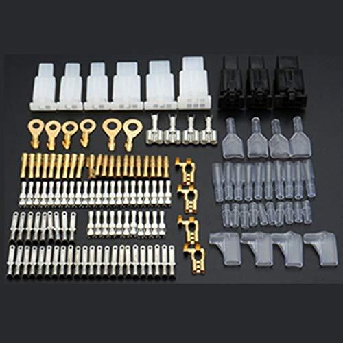 ClookYuan Auto-und Motorrad-Draht-Stecker und Buchsen Autoreparatursatz Wartung und Reparatur Messing Klemmen Set - Multicolor -