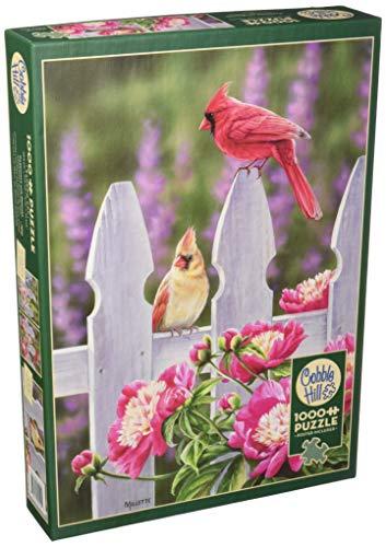 Cobblehill 80010 - Puzzle de 1000 Piezas de cardenales y peonías