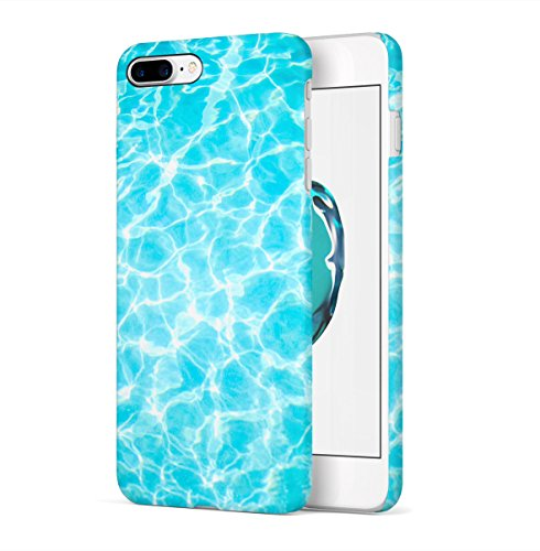 Swimming Pool Water Tropical Good Vibes Apple iPhone 7 PLUS Snap-On Hard Plastic Protective Shell Case Cover Tasche Handy Hülle