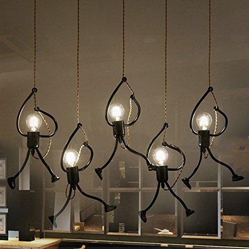 Quadrate Aus Schwarzem Schiefer (Schlechter Leuchtergebrauch des E27-Birne Retro- kreatives Restaurantkaffee-Kleidungsgeschäft-Fensterkunst-Leuchter des Schiefers lange)