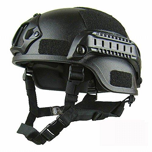 GJJ Tactical Helm Leichte Spezialkräfte Explosionsgeschützte Helm, Militärische Enthusiasten Cs Feldschutz Aufstand Ausrüstung Outdoor-Helm,B,Einheitsgröße