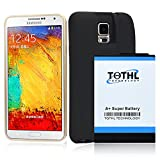 TQTHL Samsung Galaxy Note 4 [11800mAh] Extended Battery with NFC & Black Protection