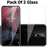 POPIO Tempered Glass for Nokia 6. 1 Plus - Pack of 2