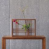 Jarrón de bambú que se puede colgar en la pared o colocar en el escritorio Diseño de tanque de agua de imán fuerte ( Color : Black walnut )
