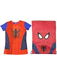 Officiel Enfants Super héros T-Shirt & Assorties 3D Pullstring Sac Paquet