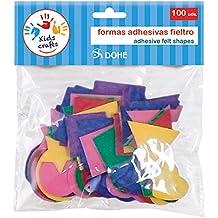 Dohe 18119 - Pack de 100 formas adhesivas, fieltro