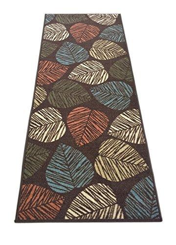RugStylesOnline Gummi Kollektion Blätter Mehrfarbig Bedruckt Rutschfeste Gummi Wieder Latex Moderne Teppiche und Läufer (1161/1162) Modern 20