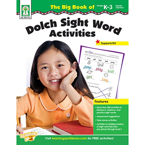 The Big Book of Dolch Sight Word Activities, Grades K - 3 Cover Image