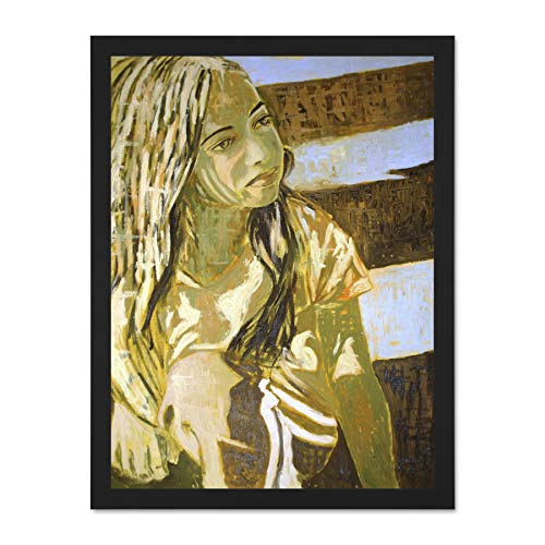Doppelganger33 LTD Painting Vari Roma Girl Large Wall Art Large Framed Art Print Poster Wall Decor 18x24 inch Supplied Ready to Hang