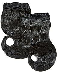 chear Body Wave Extensions capillaires 2en 1Extension de Cheveux Humains avec de mélange tissage numéro 1b,...