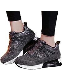 Zapatos para Correr Brillante Mujer, Fashion Women Increase Casual Shoes Wear Calzado Deportivo