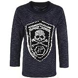 BEZLIT Jungen Sweatshirt Pullover Wende-Pailletten Tiger 21499, Farbe:Navy, Größe:128