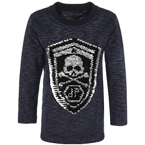 emoji shirt mit wendepailletten BEZLIT Jungen Sweatshirt Pullover Wende-Pailletten Tiger 21499 Navy Größe 116