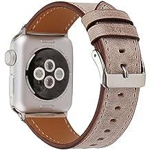Magiyard Para Apple Watch Series 3/2/1 38mm/42mm, Correa de silicona de repuesto Soft Sports Band (42mm, blanco)