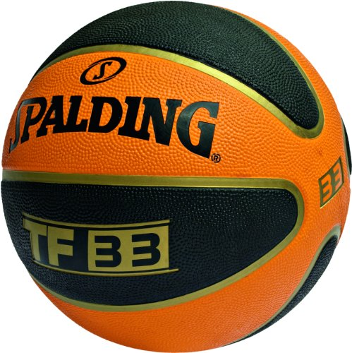 Spalding TF 33 - Balón de baloncesto para exterior, color naranja / negro - 6 UK