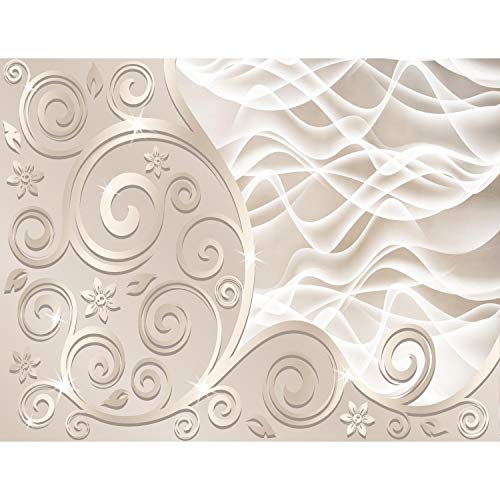 *Fototapeten 3D – Abstrakt Beige 352 x 250 cm Vlies Wand Tapete Wohnzimmer Schlafzimmer Büro Flur Dekoration Wandbilder XXL Moderne Wanddeko – 100% MADE IN GERMANY – Runa Tapeten 9193011a*