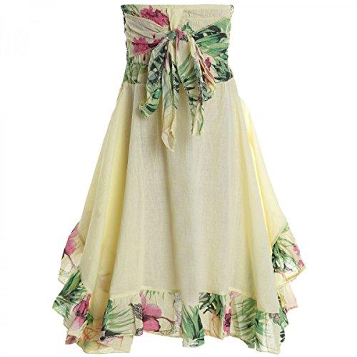 er Spitze Kleid Peticoat Fest Sommer-Kleid Kostüm 20424 Gelb Größe 152 ()