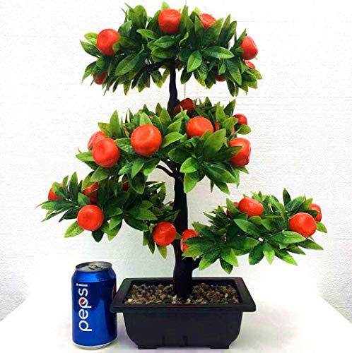 MYYDD Künstlicher Orangenbaum/Kirschbaum-Fälschungsblumen mit Topf für Hausgarten-Party-Dekoration,A,L
