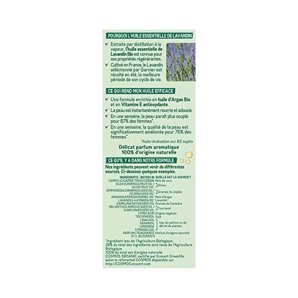 Garnier, Aceite Esencial de Lavandina Orgánico y Aceite de Argán Orgánico – Para todo tipo de pieles, incluso sensibles…