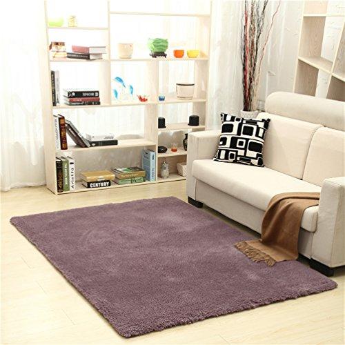 RUG LUYIASI- Kinder Schlafzimmer Teppich Nordic Teppich Wohnzimmer Teppich Sofa Europa Prinzessin Rechteck Blended Teppich Grob Shag Teppich Non-Slip mat (Farbe : Purple, größe : 80x200cm)