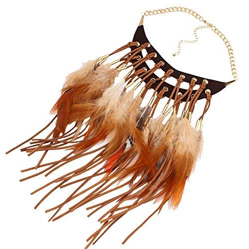 cuero-suave-mujeres-collar-bohemia-joyeria-pluma-collares-etnicos-cafe