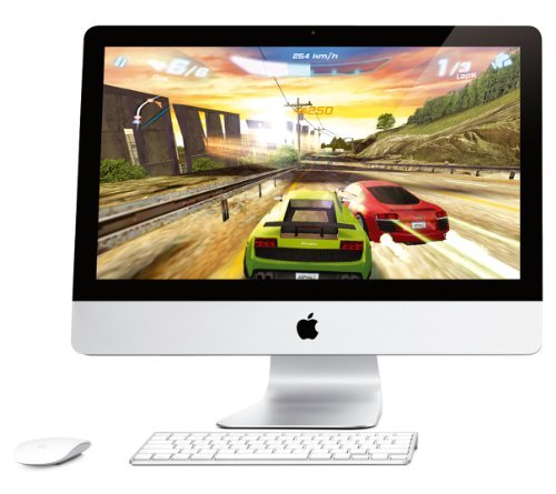 Apple iMac MC309D/A 54.6 cm (21.5 Zoll) Desktop-PC (Intel Core i5-2400S, 2,5GHz, 4GB RAM, 500GB HDD, AMD HD 6750M, DVD, Mac OS) (Generalüberholt) (- Desktop Apple Imac)