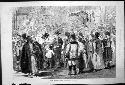 Wien-Ausstellung; Betrachten von vorbildlichem Jerusalem 1873