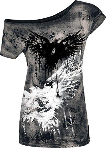 Black Premium by EMP Raven Girl-Shirt schwarz Schwarz