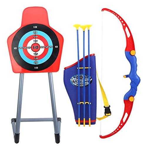 VGEBY Kinder Bogenschießen Spielzeug, Bogen Set Sport Spielzeug mit Ziel & Stand, Saugnapf Pfeile, Köcher für Kinder -