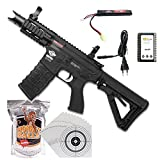 shoot-club24 G&G Firehawk CM16 HIGH CYCLE 05 AEG Airsoft Gewehr Kaliber 6mm Softair BBs ***<0,5 Joule P14!*** im ★SET★ mit Akku, Ladegerät, Softair BBs und 100 ShoXx.® Zielscheiben