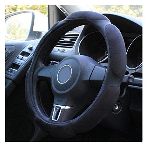 Lenkradhülle,Lenkrad Abdeckung,Steering Wheel Cover,Universal Auto Lenkradhülle,Skid Proof & Atmungsaktiv Lenkradschoner,38 cm,Schwarz