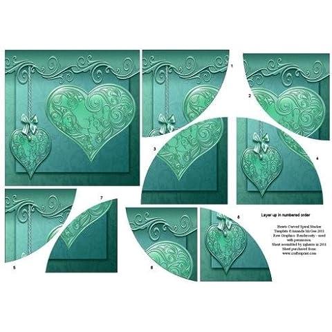 Corazones de curvas themawrap apiladora 3 por Mary Jane Harris