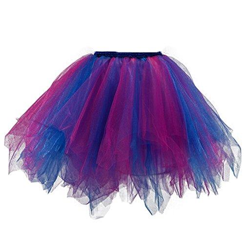 Candy Erwachsene Rocke Kurz Abendrocke Bunte Unterrock Mädchen Tutu Tüll Tanzkleid Mehrfarbig 15