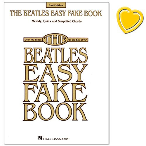 Preisvergleich Produktbild The Beatles Easy Fake Book (2nd Edition) - Super collection gathers 101 Beatles classics for beginners to play - Noten mit bunter herzförmiger Notenklammer