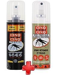 Cinq sur Cinq - Kit Haute protection contre les Moustiques Spray Tropic 100 ml + Spray Vètement 100 ml