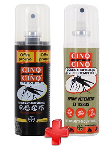 Cinq Sur Cinq alta protección Tropic repelente de mosquitos spray 100ml + ropa Spray 100ml