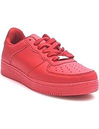 Trendige Damen Schnür Sneakers Laufschuhe Sport Fitness Freizeit Turnschuhe D9 (38, Weiß 2) King Of Shoes