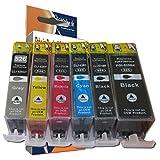 ESMOnline 6 komp. Druckerpatronen als Ersatz für Canon Pixma MG6100 / PIXMA MG6150 / PIXMA MG6200 / PIXMA MG6250 / PIXMA MG8100 / PIXMA MG8150 / PIXMA MG8200 / PIXMA MG8250