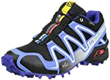 Salomon Speedcross 3 Gtx,  Damen Traillauf , Mehrfarbig - Multicolor (Black/Petunia Blue/Spectrum Blue), 36 2/3 EU (4 UK )