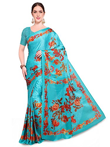 Saree mall Women\'s ART SILK Saree With Blouse (FSP130-B_Blue_Free Size)