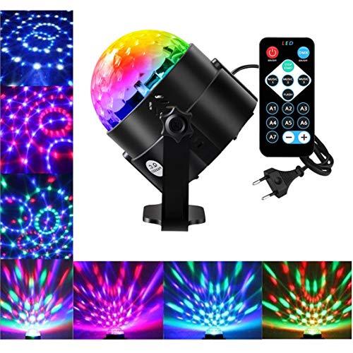 us Party Lampe DiscoLicht Musikgesteuert Mit Remote- Steuerung Bühnenbeleuchtung-7 Farbe RGB Led Effekt Lampe ()